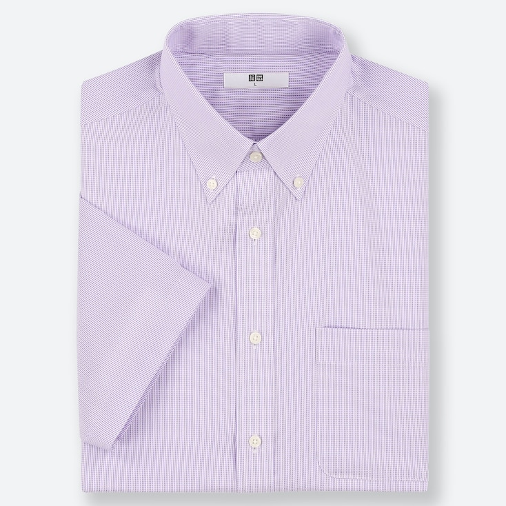 MEN DRY EASY CARE DOBBY SHORT-SLEEVE SHIRT (ONLINE EXCLUSIVE), PURPLE, large