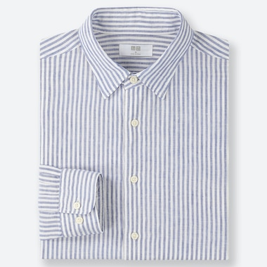 MEN PREMIUM LINEN STRIPED SHIRT (REGULAR COLLAR)