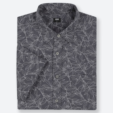 MEN EXTRA FINE COTTON REGULAR FIT FLOWER PRINT SHORT SLEEVED SHIRT (REGULAR COLLAR)