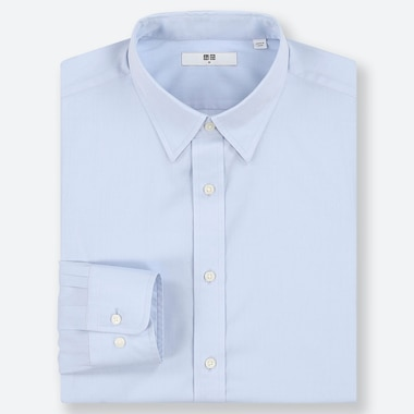 MEN EASY CARE REGULAR-FIT LONG-SLEEVE SHIRT, BLUE, medium