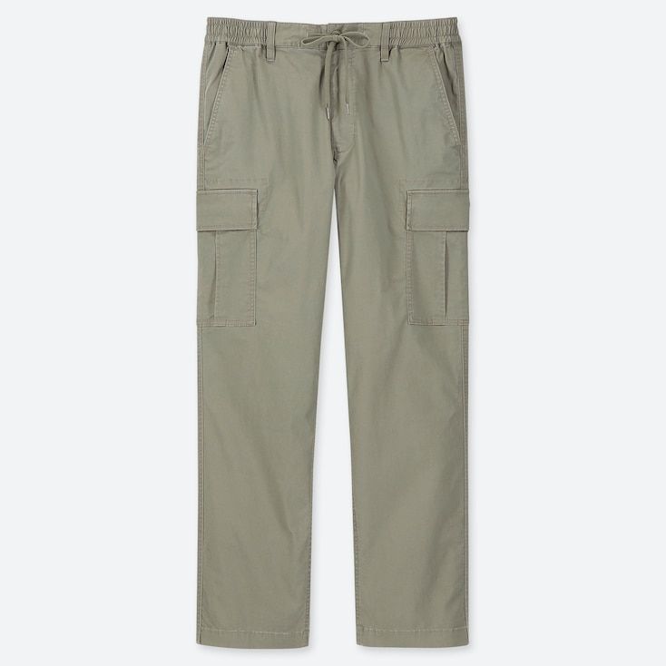 MEN PULL-ON RELAXED CARGO PANTS, OLIVE, large