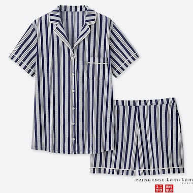 WOMEN PRINCESSE TAM.TAM SOFT STRETCH STRIPED SHORT SLEEVED PYJAMAS