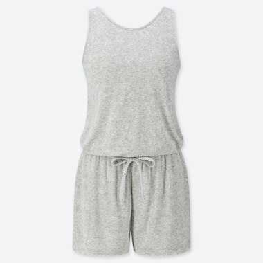 WOMEN AIRISM PILE PADDED PLAYSUIT
