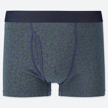 MEN SUPIMA COTTON FLORAL PRINTED BOXER BRIEFS