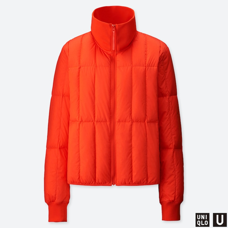 Women U Ultra Light Down Jacket, Orange, Large