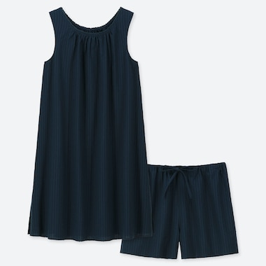 WOMEN COTTON SLEEVELESS PYJAMAS