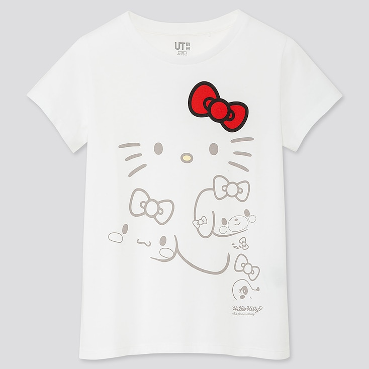 GIRLS SANRIO CHARACTERS UT (SHORT-SLEEVE GRAPHIC T-SHIRT), WHITE, large