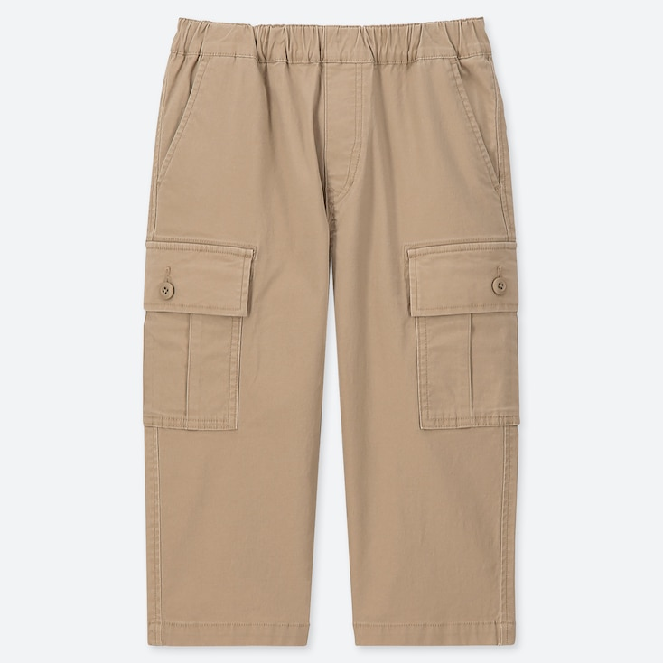 BOYS CROPPED FIT CARGO TROUSERS