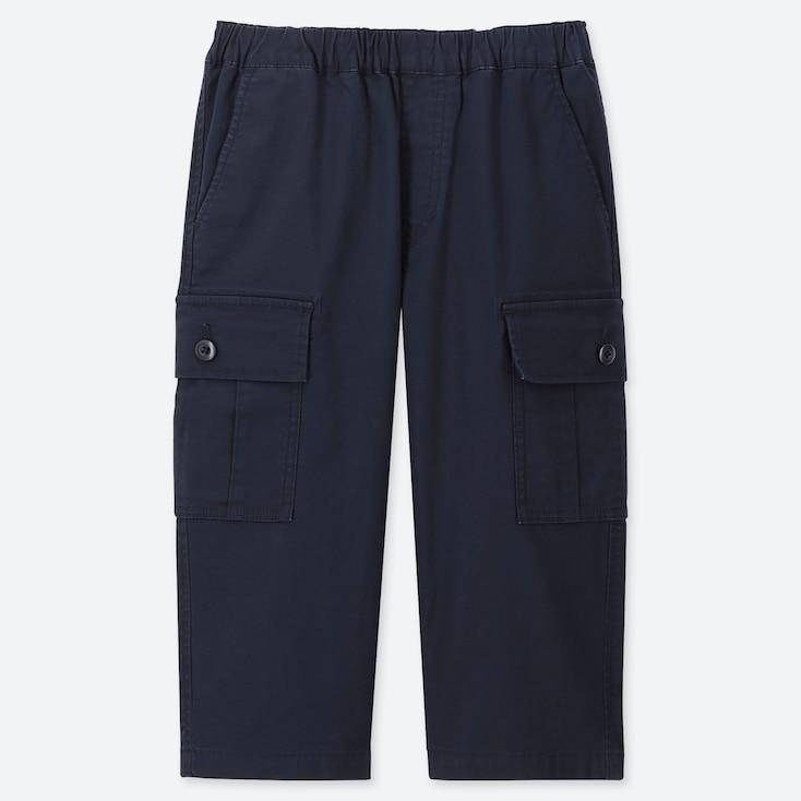 BOYS CARGO CROPPED PANTS, NAVY, large