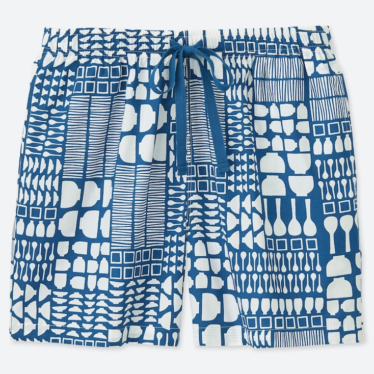 WOMEN KAMAWANU COTTON PLATE PRINT RELACO SHORTS