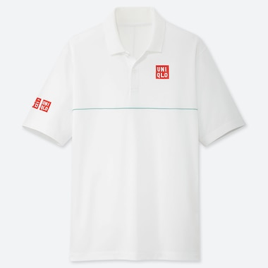 MEN DRY-EX POLO SHIRT (KEI NISHIKORI 19WB), WHITE, medium