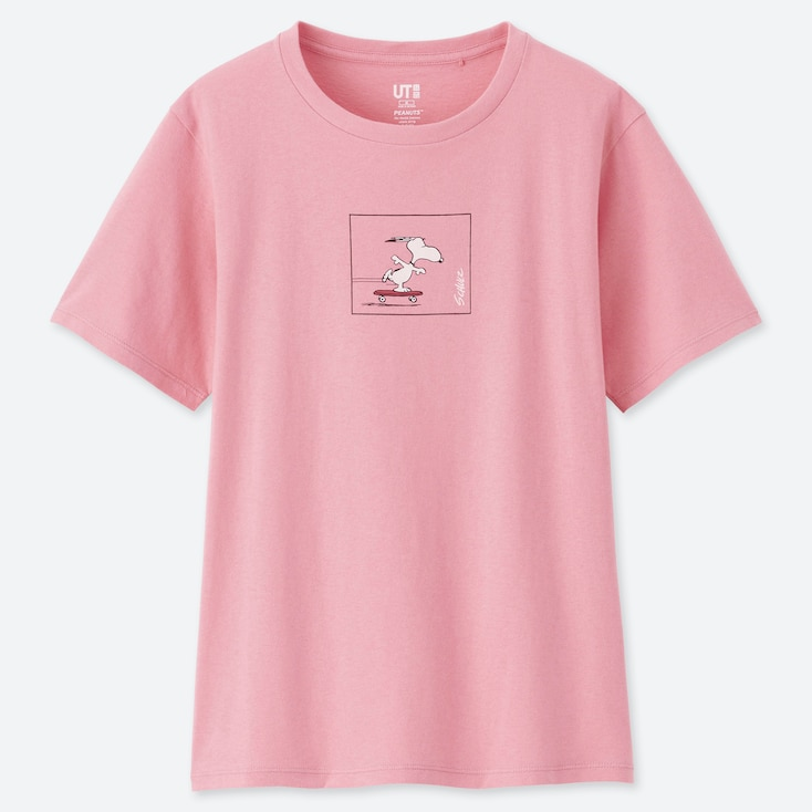 WOMEN PEANUTS UT (SHORT-SLEEVE GRAPHIC T-SHIRT), PINK, large