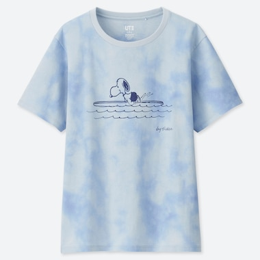 WOMEN PEANUTS UT (SHORT-SLEEVE GRAPHIC T-SHIRT), LIGHT BLUE, medium