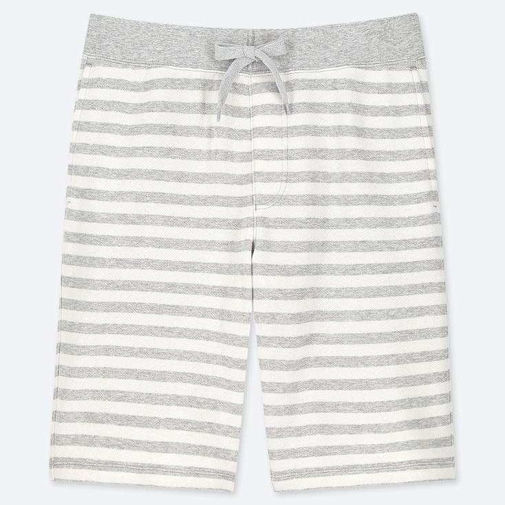 MEN JERSEY EASY SHORTS, GRAY, large