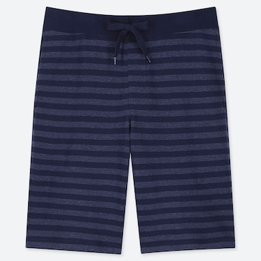 MEN EASY JERSEY HEATHER STRIPED SHORTS