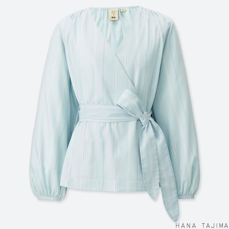 WOMEN CACHE COEUR LONG-SLEEVE BLOUSE (HANA TAJIMA), LIGHT BLUE, large