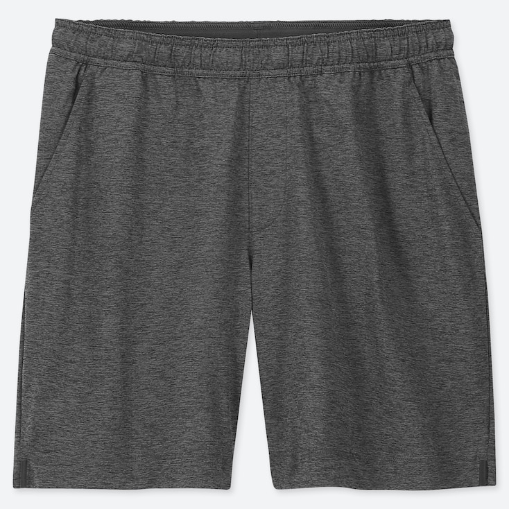 MEN ULTRA STRETCH ACTIVE SHORTS, GRAY, large