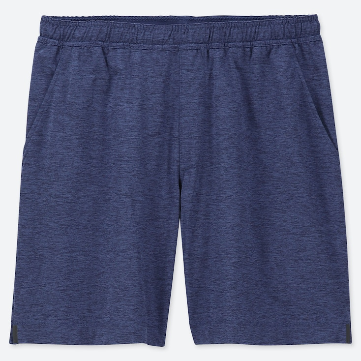 MEN ULTRA STRETCH ACTIVE SHORTS, BLUE, large