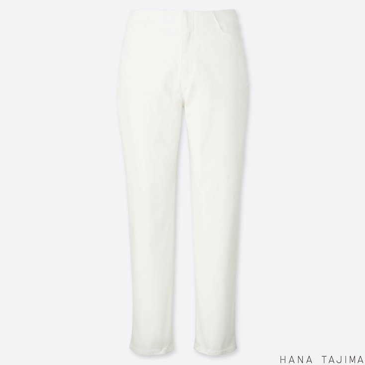 WOMEN COLOR TAPERED ANKLE PANTS (HANA TAJIMA), WHITE, large