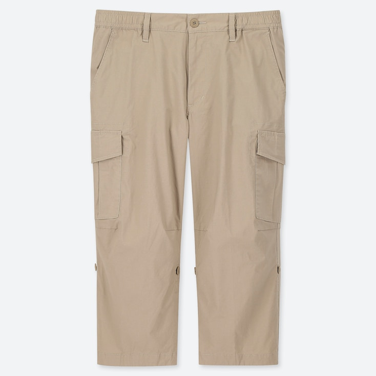MEN PULL-ON ROLL UP 3/4 CARGO PANTS (ONLINE EXCLUSIVE), BEIGE, large