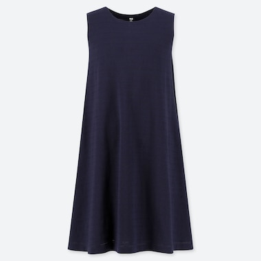 WOMEN JACQUARD SLEEVELESS DRESS