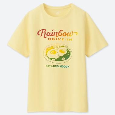 WOMEN THE BRANDS HAWAIIAN LOCO UT (SHORT-SLEEVE GRAPHIC T-SHIRT), YELLOW, medium