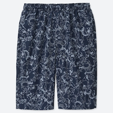MEN HOKUSAI BLUE UT LIGHT COTTON EASY SHORTS