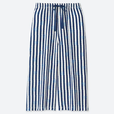WOMEN MICKEY BLUE RELACO THREE QUARTER LENGTH STRIPED SHORTS
