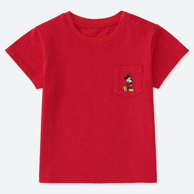 BABIES TODDLER MICKEY STANDS UT POCKET T-SHIRT