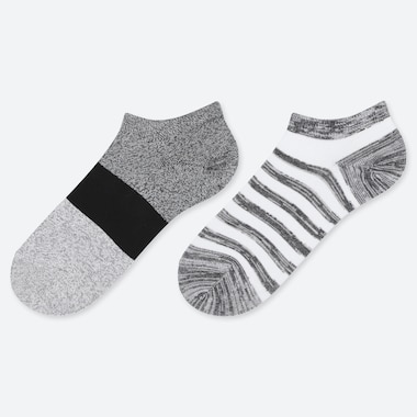 BOYS COLOUR BLOCK ANKLE SOCKS (TWO PAIRS)