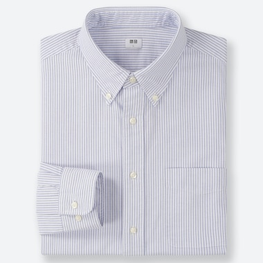 CAMICIA OXFORD A RIGHE (COLLETTO CON BOTTONI) UOMO