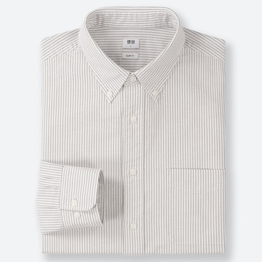 CAMICIA OXFORD SLIM A RIGHE (COLLETTO CON BOTTONI) UOMO