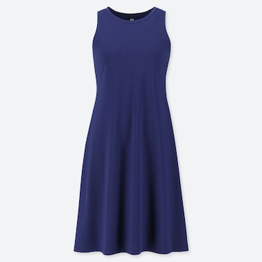 WOMEN COTTON MODAL SLEEVELESS DRESS