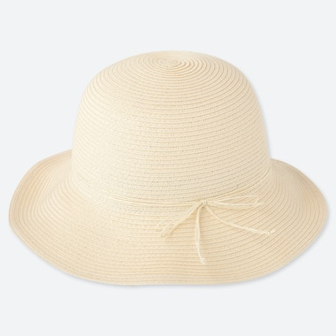 Girls Uv Protection Hat, Off White, Medium