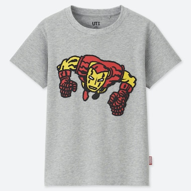 KIDS MARVEL x JASON POLAN UT (SHORT-SLEEVE GRAPHIC T-SHIRT), GRAY, medium
