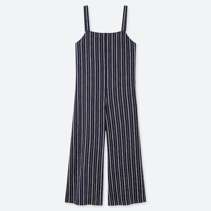 c8353b64a46c WOMEN LINEN BLEND STRIPED JUMPSUIT | UNIQLO UK