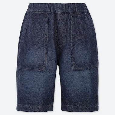 BOYS JERSEY DENIM EASY SHORTS, BLUE, medium