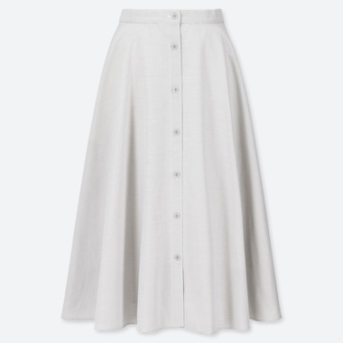 WOMEN FRONT BUTTONED CIRCLE SKIRT