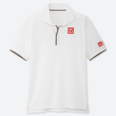 MEN DRY-EX POLO SHIRT (ROGER FEDERER 19WB), WHITE, medium
