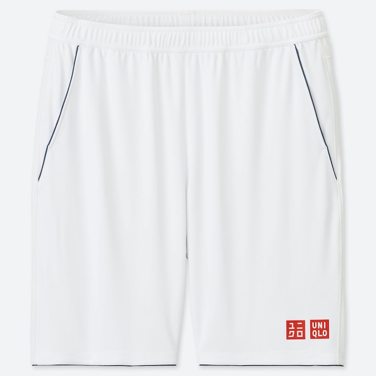 MEN DRY SHORTS (ROGER FEDERER 19AUS), WHITE, large