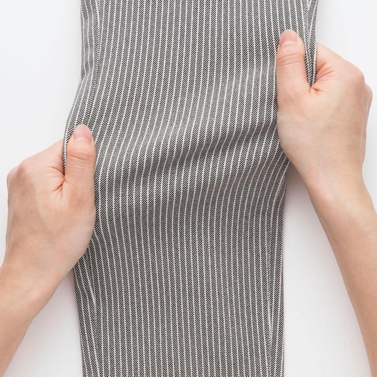 Women Ultra Stretch Print Cropped Leggings Pants, Blue, Large