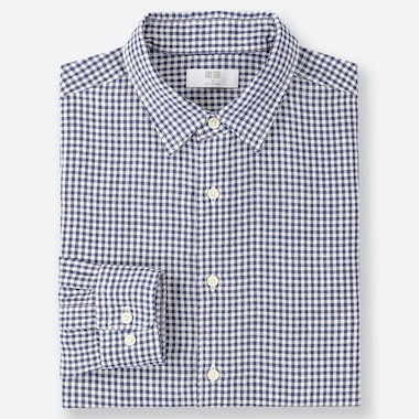 MEN PREMIUM LINEN GINGHAM CHECKED SHIRT (REGULAR COLLAR)