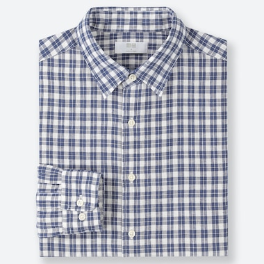 MEN PREMIUM LINEN CHECKED SHIRT (REGULAR COLLAR)