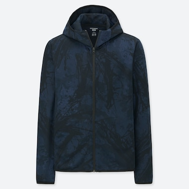 MEN DRY-EX MERGURU YAMAGUCHI LONG-SLEEVE FULL-ZIP HOODIE, NAVY, medium