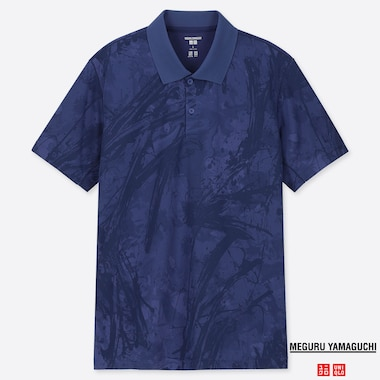 MEN DRY-EX PRINTED SHORT SLEEVED POLO SHIRT