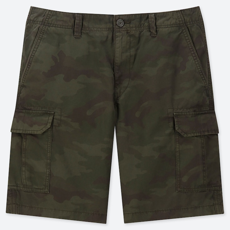 MEN CARGO SHORTS (ONLINE EXCLUSIVE), DARK GREEN, large