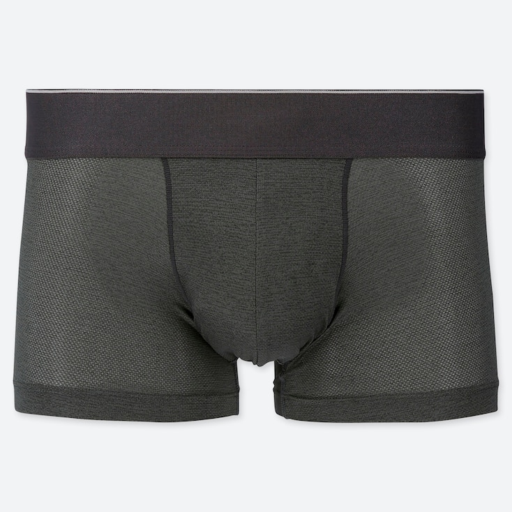 MEN AIRism MESH BOXER BRIEFS, GRAY, large