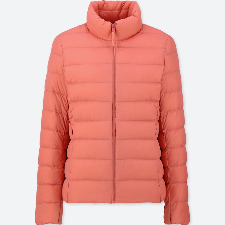 WOMEN ULTRA LIGHT DOWN JACKET, ORANGE, large