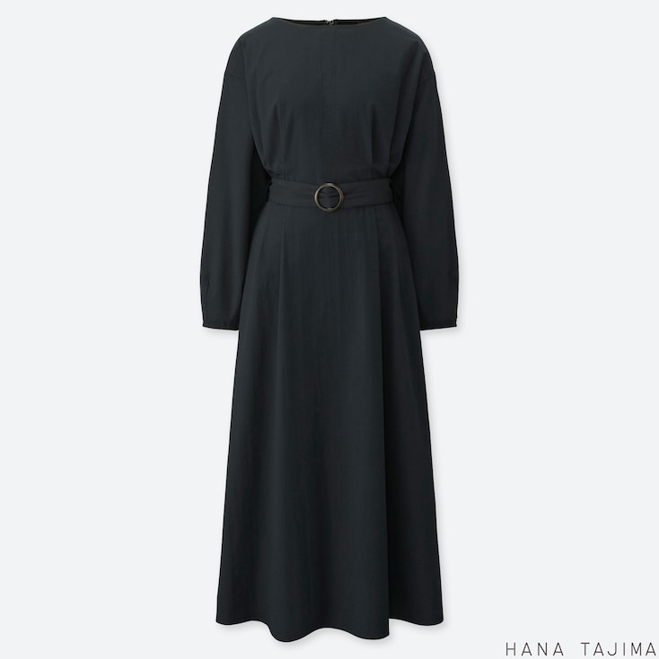 ade54375ee5 WOMEN HANA TAJIMA TUCKED LONG SLEEVED MAXI DRESS