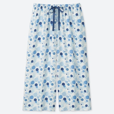 WOMEN MICKEY BLUE RELACO THREE QUARTER LENGTH DOTTED SHORTS